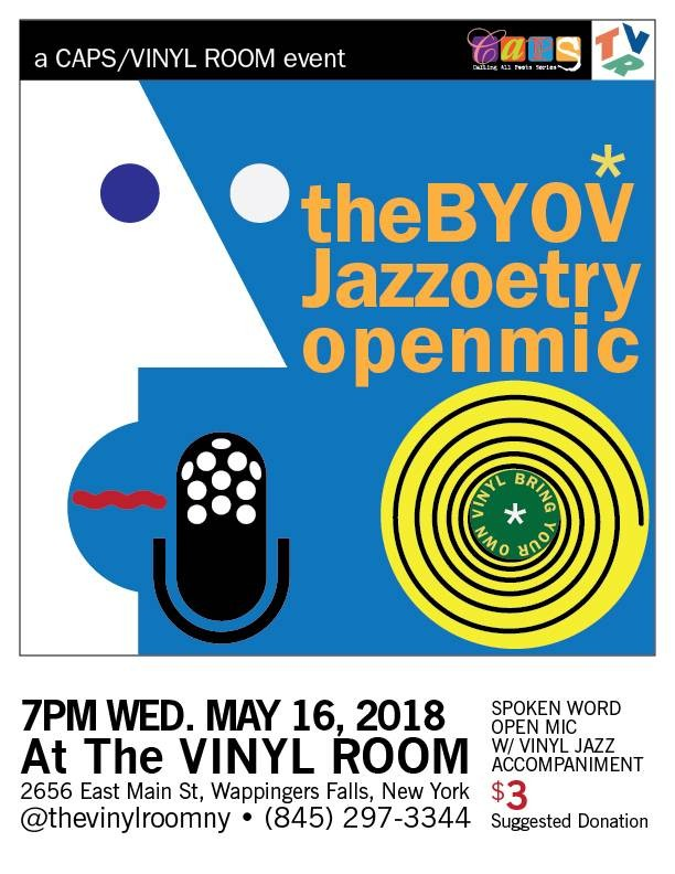 Bring Your Own Voice! Bring Your Own Vinyl! Jazzoetry Open Mic