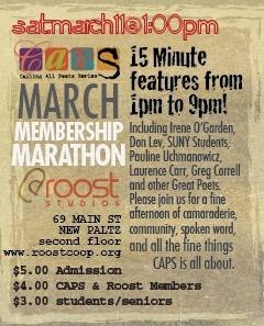 CAPS 1st March Membership Madness Marathon Saturday, 3/11 1-9pm